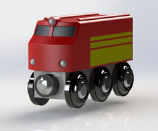 BRIO Train SolidWorks render