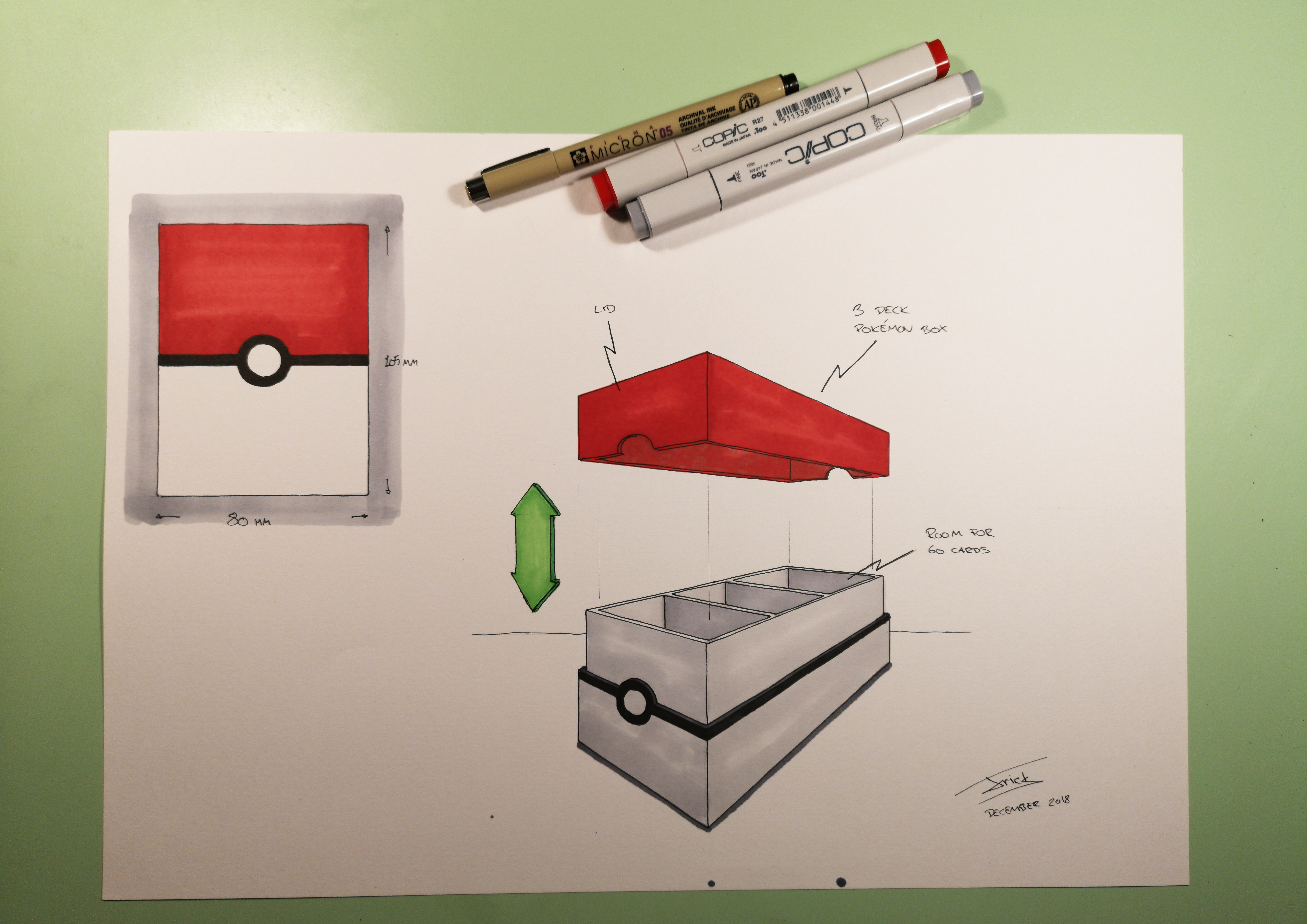Pokemon cardbox sketch
